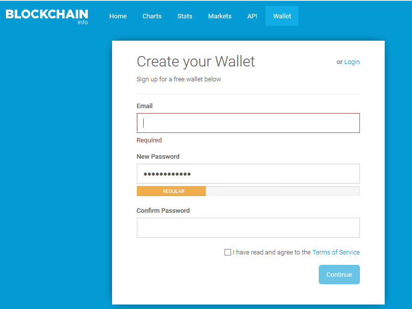 Create bitcoin wallet service